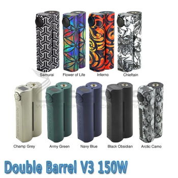 Squid Industries - Double Barrel V3 - 150W Box Mod
