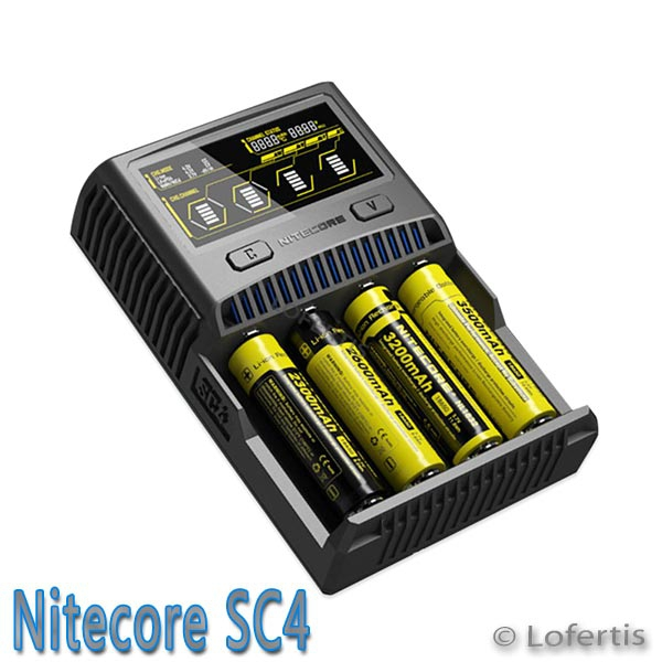 nitecore sc4 4 slot multi akku ladeger t mit lcd display. Black Bedroom Furniture Sets. Home Design Ideas